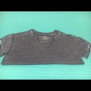 Free People very distressed oversized V Tee